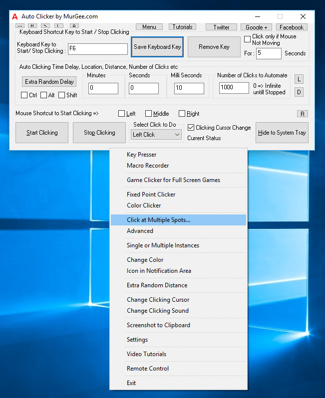 Auto Click on Multiple Screen Locations on Windows 10