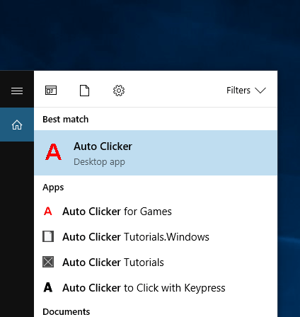 Auto Clicker Desktop App on Windows 10