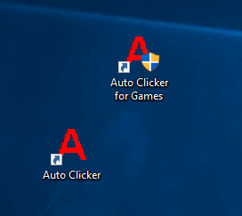 Auto Clicker Desktop Shortcut Icons