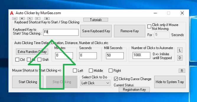 Auto Clicker Keyboard Shortcut