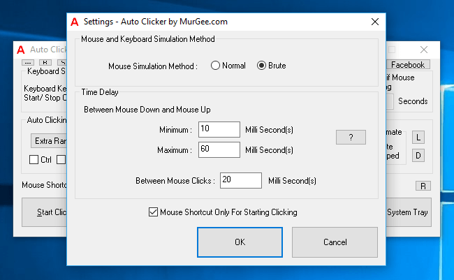 Auto Clicker Settings