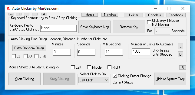 Auto Clicker on Windows 10